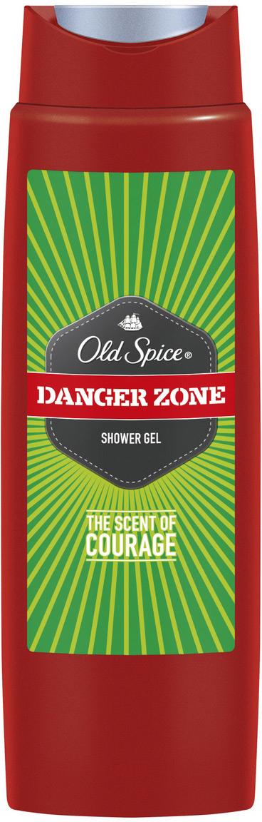 OLD SPICE Гель для душа Danger Zone 250 млOS-81554171Для мужчин, довольно ухмыляющихся в лицо опасности, смеющихся над неприятностями и откровенно ржущих над превратностями судьбы. Гель для душа Old Spice Danger Zone подарит тебе аромат отваги пилота-испытателя за штурвалом реактивного самолета, сделанного из взрывчатки! Old Spice предлагает большой выбор гелей для душа для мужчин, которые знают толк в хороших ароматах и живут яркой и необычной жизнью. Забудь про неприятный запах, источай аромат мужественности. Аромат отваги.