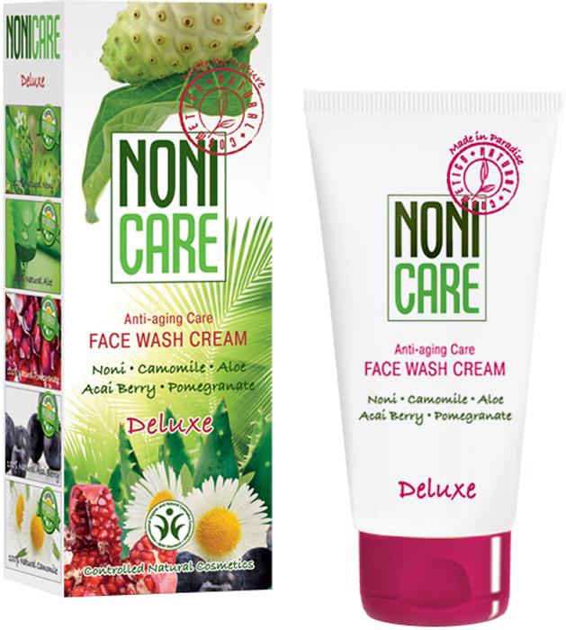 Nonicare Омолаживающий крем для умывания Deluxe - Face Wash Cream 100 мл4260254460050Нежный крем для умывания бережно удаляет макияж, водо- и жирорастворимые загрязнения. Специальная формула крема создавалась с учетом повышенных потребностей зрелой, требовательной кожи в питании и увлажнении. Содержит эксклюзивный коктейль активных ингредиентов из свежего сока фрукта Нони, масла оливы, экстракта плодов пальмы Acai Berry, ромашки и граната, с использованием мягких ПАВов на основе кокосового масла. Мягкие сурфактанты на основе кокосового масла не пересушивают кожу и не нарушают ее барьерных функций. Средство оптимизирует деятельность сальных желез, оказывает противовоспалительное действие.Масло оливы дополнительно смягчает кожу, восстанавливая ее барьерные функции. Ромашка устраняет раздражения и покраснения. Экстракты граната и ягод асаи препятствуют появлению морщин и оказывают антиоксидантное действие. Крем для умывания защищает от вредного воздействия жёсткой воды. Идеально подготавливает кожу к последующему нанесению косметических средств и значительно повышает эффективность их использования. Придаёт ощущение необычайной свежести и комфорта. После очищения кожа выглядит свежей и сияющей. Рекомендован для ежедневного деликатного ухода за требовательной, сухой, чувствительной кожей с 28 лет.