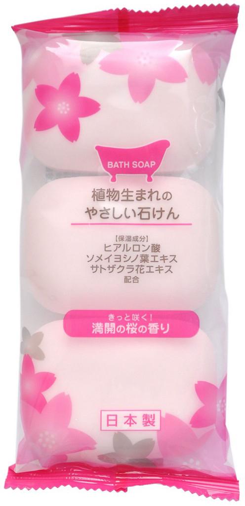 Max Soap Мыло туалетное, с ароматом сакуры, 3шт х 80 г038037Мыло образует густую мягкую пену, очищает и освежает кожу тела. Благодаря гиалуроновой кислоте не сушит кожу. Изготовлено по традиционному способу мыловарения (с мыльной основой из натуральных растительных компонентов). Экономично в использовании.Обладает ароматом сакуры.