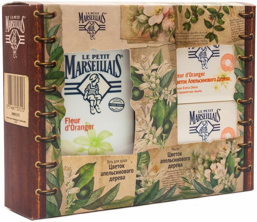 Le Petit Marseillais Подарочный набор: Гель для душа Цветок апельсинового дерева, 250 мл + Экстрамягкое мыло Цветок апельсинового дерева, 90 г, 2 шт (второе мыло в ПОДАРОК)03034312016Гель и жидкое мыло для рук Le Petit Marseillais Цветок апельсинового дерева увлажняет и питает. Мыло обладает тонким цветочным ароматом, мягко очищает и увлажняет кожу. Образует густую пену, легко смывается.
