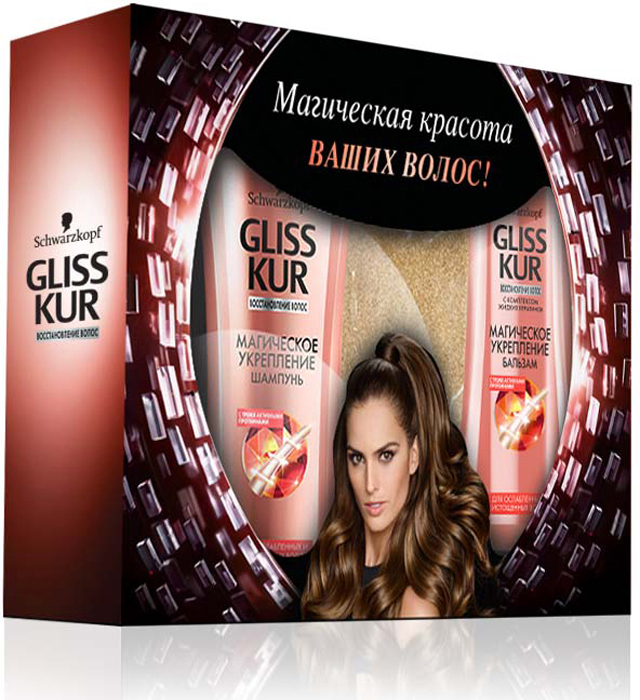 Подарочный набор Gliss Kur Магическое укрепление taft classic пена power укрепление волос для тонких и истощенных волос мегафиксации 150 мл