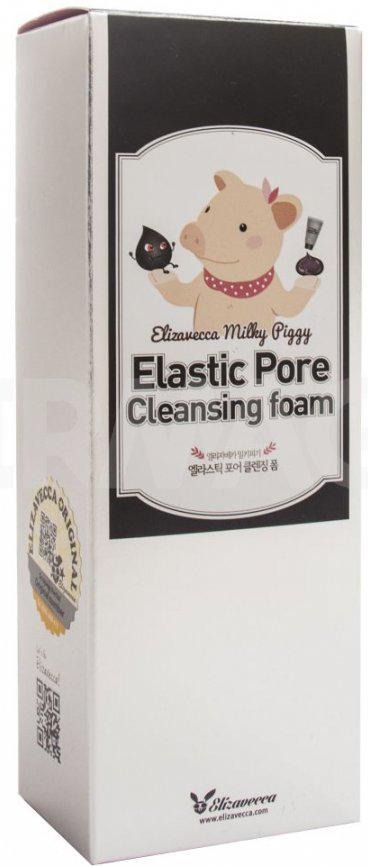 Elizavecca Пенка для умывания с порошком древесного угля Milky Piggy Elastic Pore Cleansing Foam, 120 мл крем elizavecca milky piggy egf retinol cream 100 мл