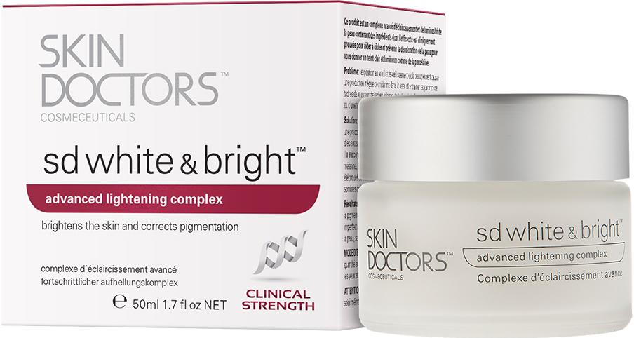 Skin Doctors SD White & Bright, Отбеливающий крем для лица, 50 мл