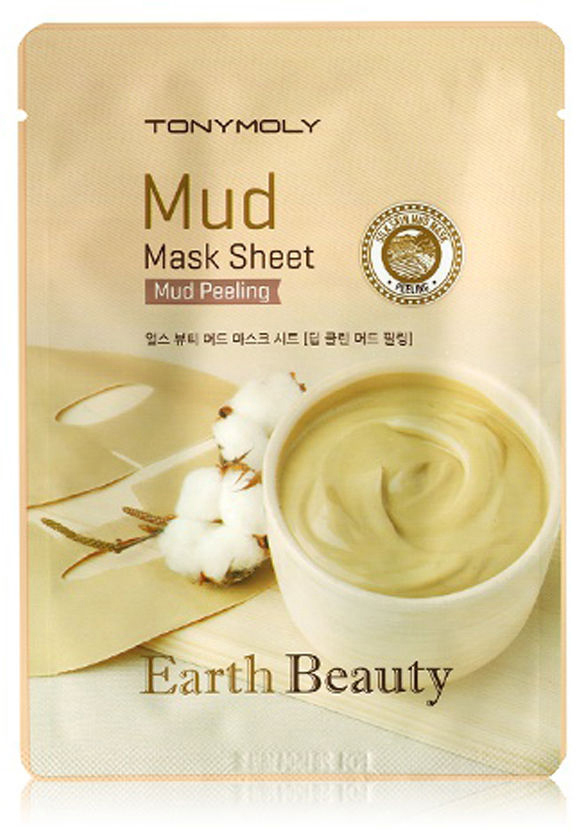 TonyMoly Тканевая маска для лица с белой глиной Earth Beauty Mud Peeling Mask Sheet, 35 гр маска tony moly earth beauty mud peeling mask sheet 15 г