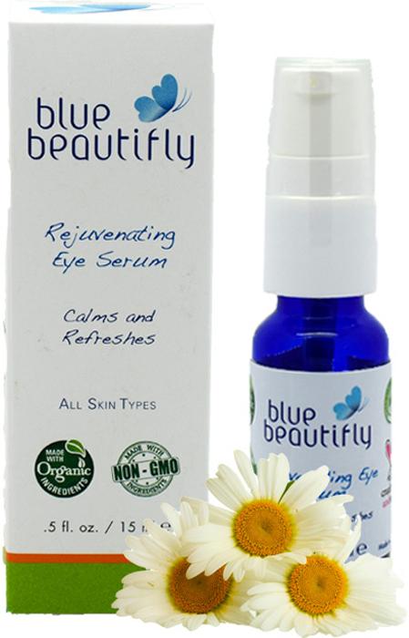 Blue Beautifly Омолаживающая сыворотка для области вокруг глаз, 15 млBB-001Для всех типов кожи. Органическая сыворотка - это эффективное средство против старения кожи, содержит большое количество органических экзотических масел и растительных стволовых клеток. Она укрепляет, увлажняет и восстанавливает нежную кожу вокруг глаз. Ценные масла: Аргана, Граната, Облепихи, Таману, Миндаля, Абрикоса и Жожоба смягчают кожу, борются с морщинами и «гусиными лапками»,а экстракты Розы, Зеленого Кофе, Василька, Хвоща полевого и Очанки усиливают эффективность ухода за кожей- успокаивают, укрепляют и осветляют кожу вокруг глаз. Нежная ароматерапевтическая смесь эфирных масел Лаванды и розовой Герани уменьшает воспаление и восстанавливает кожу вокруг глаз.