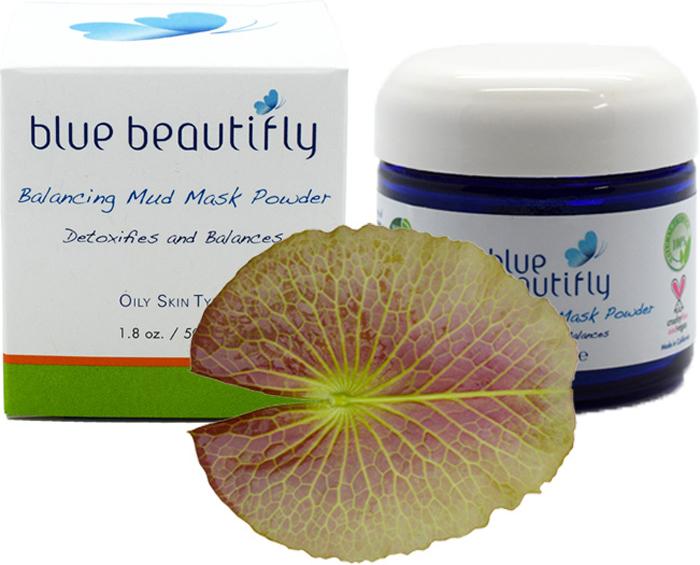 Blue Beautifly Балансирующая сухая маска-пилинг, 50 г французская зеленая глина 80 гр