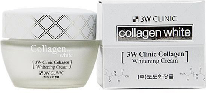 3W Clinic Крем для лица с коллагеном Collagen Whitening Cream, 60 мл the yeon yo woo cream крем для лица осветляющий 100 мл