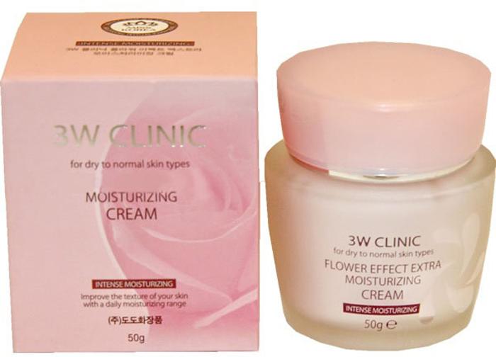 3W Clinic Крем для лица увлажняющий Flower Effect Extra Moisture Cream, 50 гр отзывы крема от купероза