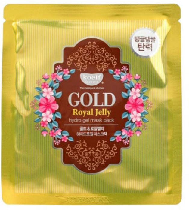 Koelf Маска для лица гидрогелевая с золотом и маточным молочком Gold & Royal Jelly Mask, 30 гр защитная гидрогелевая маска с золотом и бриллиантами miskin
