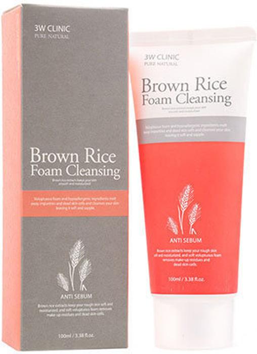 3W Clinic Пенка для умывания натуральная Brown Rice Foam Cleansing, 100 мл282435-1Рис – одна из самых популярных злаковых культур, особенно ценится на Востоке, где используется не только в пищу, но и для изготовления лекарственных и косметических средств. Еще в давние времена восточные красавицы использовали рисовый крем, рисовое молочко и рисовую пудру, чтобы поддерживать красоту и молодость кожи. Нежная пенка, в составе которой экстракт коричневого риса, помогает очистить кожу от повседневных загрязнений и макияжа. Выполняя роль эксфолианта, экстракт риса способствует отшелушиванию омертвевших частичек кожи, а также очищает поры. Пенка с экстрактом риса увлажняет, освежает и тонизирует кожу, снимает раздражения, а при регулярном применении способствует выравниванию ее поверхности и тона, мягко осветляет пигментацию и разглаживает морщины.