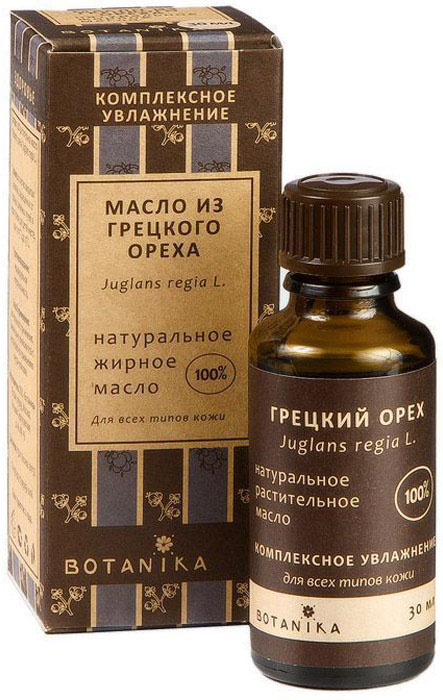 Botanika жирное масло Грецкого ореха для всех типов кожи, 30 мл масло из грецкого ореха la tourangelle нерафинированное 250 мл франция