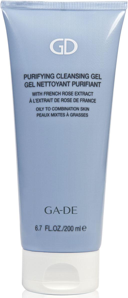 GA-DE Гель для умывания Purifying Cleansing Gel(для жирной и комбинированной кожи), 200 млES-903Мягкий гель на растительных экстрактах нежно снимает макияж, очищает и эффективно восстанавливает гидролипидную мантию кожи, нормализует водно-солевой баланс и прекрасно увлажняет кожу.