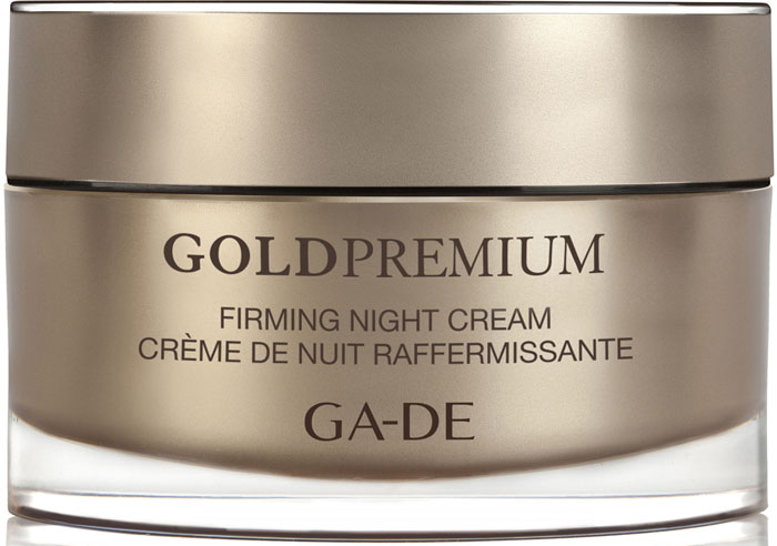 GA-DE Укрепляющий ночной крем Gold Premium, 50 мл147200000Скажи НЕТ - старению кожи. Интенсивный антивозрастной ночной крем, обогащенный активными ингредиентами для истощенной кожи, нуждающейся в регенирации. Укрепляет обменные процессы, стимулирует выработку синтеза эластина и способствует правильной и функциональной структуре эластичных волокон, поддерживает важные структурные элементы кожи. Обеспечивает эффект круговой подтяжки. Активные компоненты: Lifto Peptide, масло зародышей пшеницы, омега 6, масло ши.