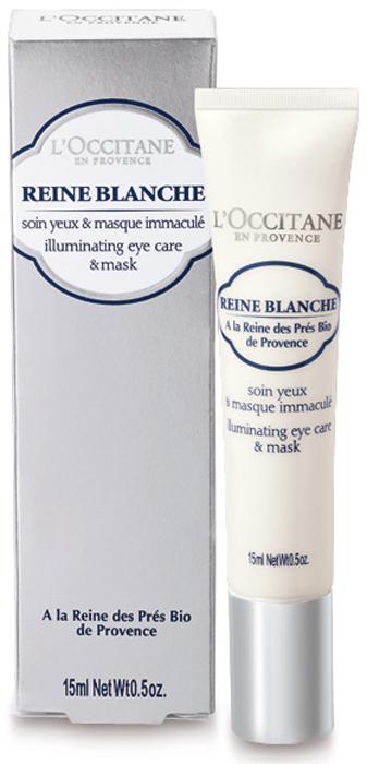 LOccitane Сияющий крем-маска для кожи вокруг глаз Белая Королева 15 мл67100945Уникальная формула крем-маски придает коже сияние, способствуя уменьшению отечности и темных кругов.