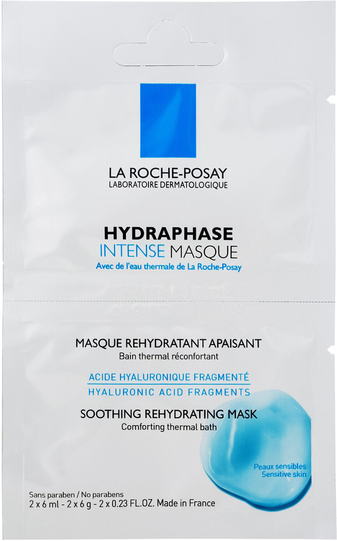 La Roche-Posay Hydraphase Intense Маска – 1 бидоза: 2х6мл la roche posay hydraphase intense serum 30 ml 1 01 oz concentrate rehydratant