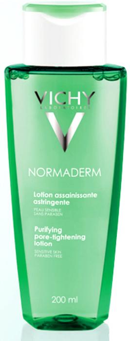 VICHY Normaderm Лосьон Тоник, сужающий поры 200млM9137400Идеально для женщин и мужчин, до и после 30 лет, страдающих от несовершенств кожи: закупоренные поры, неровная текстура, локальный блеск, покраснения, расширенные поры. Очищает кожу и уменьшает выработку кожного сала. Глубоко очищает поры. Уникальные активные компоненты и инновационные технологии гаммы Normaderm оздоравливают кожу: выравнивается рельеф и исчезают несовершенства кожи. Предотвращает появление воспалений.