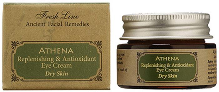 Fresh Line Крем для кожи вокруг глаз Афина, 15 мл910426Удерживает влагу в глубоких слоях кожи, уменьшает существующие морщины и предотвращает появление новых . Антиоксиданты и витамины защищают кожу от негативного воздействия свободных радикалов. Крем обладает легкой текстурой и быстро впитывается, т.к. в составе содержатся только натуральные масла и отсутствуют продукты нефтехимии. Может применяться утром и вечером. Подходит для нормальной и склонной к сухости кожи.