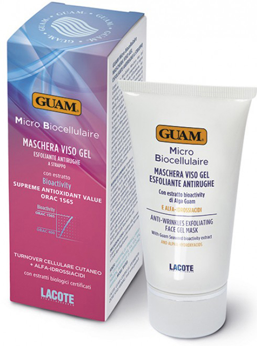 Guam Маска-скраб Micro Biocellulaire 75 мл1021РЕГЕНЕРАЦИЯ КОЖИ+ АЛЬФА-ГИДРОКСИКИСЛОТЫ .Питает, разглаживает и глубоко увлажняет кожу, возвращая жизненную силу и яркость лица. Высокая концентрация альфа-гидроксикислот способствует восстановлению клеток эпидермиса, уменьшает темные пятна, а экстракт планктона, экстракт алоэ, страстоцвет и черная смородина восстанавливают и увлажняют кожу. Все это делает маску очень эффективной для борьбы с морщинами