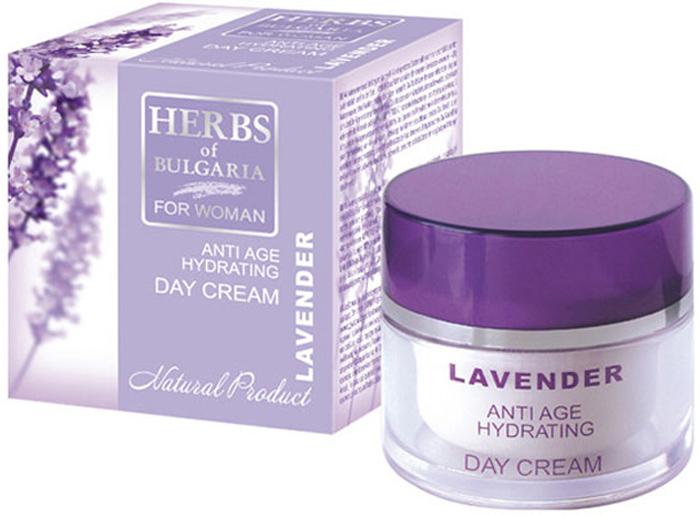 Herbs of Bulgaria Lavender Омолаживающий увлажняющий дневной крем для лица, 50 мл63184Дневной крем от морщин, придающий коже упругость - это естественное решение возрастных проблем лица. Специальная формула крема создана для ухода за гиперчувствительной, чрезвычайно требовательной кожей. Разглаживает даже глубокие морщины и подтягивает кожу лица. Выполняет все самые сокровенные желания вашей кожи: активное омоложение, питание, тонизация и регенерация. Устраняет раздражения, воспаления и восстанавливает защитную мантию эпидермиса. С нежным ароматом лаванды рождаются чувства легкости, бодрости, нежной эйфории. Уникальный крем обеспечивает пролонгированное действие активных природных веществ, восстанавливающих здоровье и функции клеток кожи.Специально созданная формула без парабенов, синтетических красителей и производных нефтепереработки. Обеспечивает оптимальную гидратацию и защиту в течение всего дня. Содержит масло макадемии, масло ши, масло миндаля и специальный активный ингредиент BIOPEPTIDE-CL, который отличается сильно увлажняющим и питающим действием. Стимулирует синтез коллагена,что приводит к уменьшению морщин.