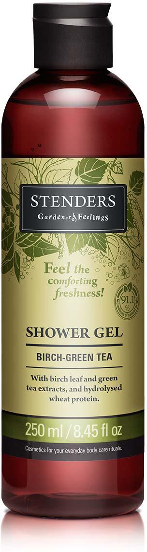 Stenders Гель для душа с экстрактом березовых листьев и зеленого чая, 250 мл fa гель для душа oriental moments 250 мл