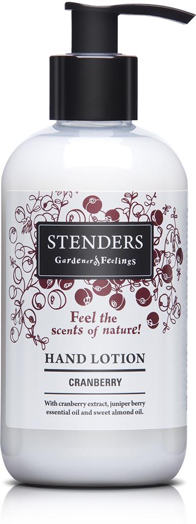 Stenders Лосьон для рук Клюква, 245 млHLTN001Наш легкий лосьон для рук, обогащенный восстанавливающим клюквенным экстрактом, можжевеловым эфирным маслом, твердым маслом ши и маслом сладкого миндаля, быстро впитается в кожу, увлажнит и восстановит ее комфортное состояние, а также сделает ваши руки необычайно нежными и придаст им свежий природный аромат.