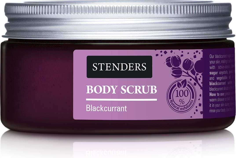 Stenders Сахарный скраб Черносмородиновый, 230 гBSSG002Наш черносмородиновый сахарный скраб глубоко очистит вашу кожу, делая ее нежной и сияющей здоровьем. Содержит богатый витаминами экстракт черной смородины, кристаллы сахара, порошок пемзы, глицерин и растительное масло. Ощутите жизнерадостный аромат, напоминающий о налитых солнцем ягодных кустах в зените лета!
