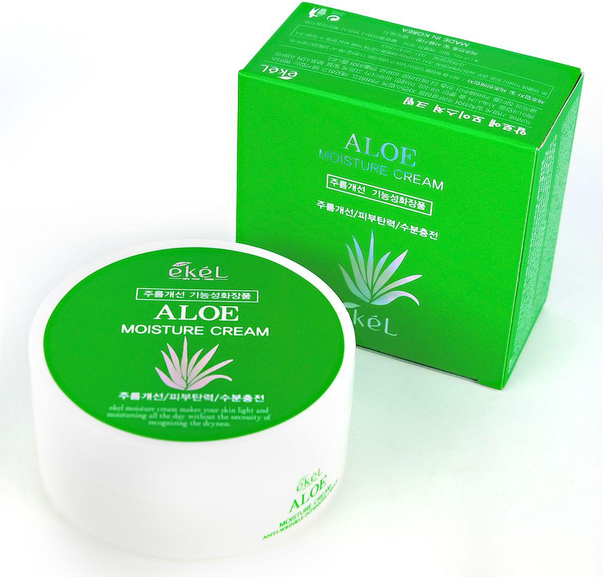Ekel Увлажняющий крем с экстрактом алоэ, 100 мл537214Ультраувлажняющий крем нейтрализует свободные радикалы, «откладывая» процесс увядания кожи. Быстро повышает уровень увлажнения кожи, нормализует гидро-баланс, разглаживает микрорельеф и выравнивает тон кожи. Стимулирует синтез коллагена, активизирует естественные восстановительные процессы кожи и укрепляет иммунную систему. Благодаря высокой гидрофильности способствует поддержанию нормального водного баланса в клетках кожи, создает внутренний объем тканей. Улучшает рельеф кожи, предупреждает и замедляет старение кожи, разглаживает морщины, эффективно увлажняют и защищают кожу, предотвращает формирование рубцов. Обладает противовирусным, бактерицидным, ранозаживляющим действием. В сочетании с другими биологическими активными компонентами действует в синергизме, усиливая их активность.