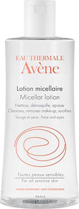 Avene Мицеллярный лосьон для очищения кожи и удаления макияжа, 400 млC46827Мицеллярный лосьон специально разработан для очищения и снятия макияжа с чувствительной кожи.Мягко удаляет загрязнения и макияж с кожи лица, глаз и губ не пересушивая кожу.Содержит высокую концентрацию термальной воды Avene, снимающей раздражение и обладающей успокаивающим действием. Уважаемые клиенты! Обращаем ваше внимание на возможные изменения в дизайне упаковки. Качественные характеристики товара остаются неизменными. Поставка осуществляется в зависимости от наличия на складе.