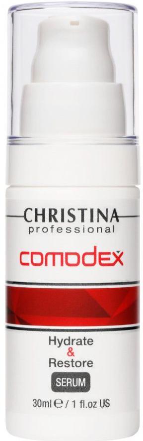 Christina Comodex Hydrate & Restore Serum - Увлажняющая восстанавливающая сывворотка 30 млCHR632Сыворотка оказывает выраженный и длительный увлажняющий эффект, восстанавливает и омолаживает кожу. Предотвращает потерю влаги и повышает ее запасы, делает кожу гладкой, эластичной, придавая ощущения комфорта на ее поверхности. Объем: 30 мл