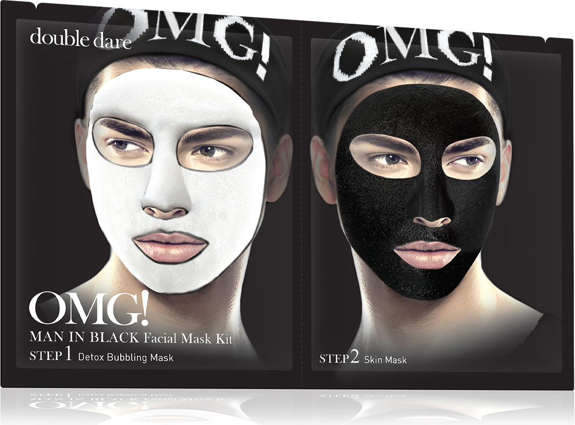 Double Dare OMG! Man In Black Facial Mask Kit Маска мужская двухкомпонентная для ухода за кожей лица black cohosh extract 450mg x 90capsule free shipping
