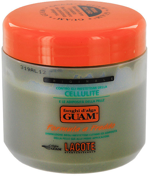 Маска антицеллюлитная Guam, с охлаждающим эффектом, 500 г5203069043246Активные компоненты маски Lacote Guam выравнивают кожный рельеф при целлюлите, снимают отечность, укрепляют сосуды, уменьшают объем бедер, подтягивают и укрепляют кожу. Экстракты водорослей в сочетании с фитокомплексом, эфирными маслами и ментолом способствуют сужению сосудов, обеспечивают отток избыточной межклеточной жидкости, уменьшают сдавливание кровеносных сосудов и укрепляют их стенки. Значительно улучшает состояние кожи: разглаживает, повышает эластичность и тонус.Применение: наносить на зоны ягодиц и бедер тонким слоем на предварительно очищенную кожу, обернуть пленкой (не входит в комплект), держать 45 минут, для усиленияэффективности укрыться пледом, снять пленку и смыть водой, завершить процедуру нанесением на кожу антицеллюлитного геля или крема. Рекомендуемый курс: 3 дня подряд, затем интервал между процедурами 2-3 дня; всего проводить 10-15 процедур.Противопоказания: беременность. Не наносить на зону живота и талии! Характеристики:Вес: 500 г.Производитель: Италия.Артикул:0046.Товар сертифицирован.