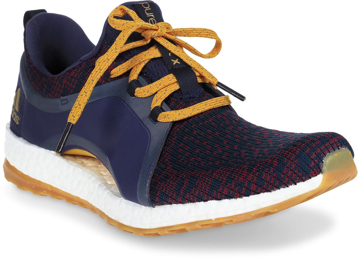 Кроссовки женские Adidas Pureboost X Atr, цвет: темно-синий. BY2690. Размер 5,5 (37,5)BY2690Кроссовки для бега Pureboost X Atr от adidas обеспечивают комфорт на протяжении всей тренировки за счет оптимальной поддержки стопы. Верх модели выполнен из крупной текстильной сетки для максимальной вентиляции ног. Литые вставки в средней части стопы созданы специально для дополнительной поддержки и устойчивости. Гибкая арка адаптируется к силуэту стопы и обеспечивает поддерживающую посадку во время движения. Уникальная конструкция резиновой подошвы STRETCHWEB заряжает дополнительной энергией во время бега. Промежуточная подошва Boost возвращает энергию каждого шага. Резиновая подошва с решетчатой подметкой, которая адаптируется к вашему индивидуальному способу приземления.
