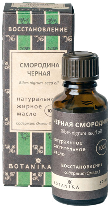 Жирное масло Botanika Смородина черная, для сухой, раздраженной и увядающей кожи, 30 мл036gНатуральное 100% жирное масло Botanika Смородина черная обладает прекрасными восстанавливающими, увлажняющими и разглаживающими свойствами. Поддерживает эластичность кожи, благодаря наличию витамина С, стимулируя синтез коллагена. Способствует восстановлению барьерной функции кожи. Применяется для восстановления сухой, шелушащейся, раздраженной кожи и в комплексной терапии кожных заболеваний. Рекомендуется также для увядающей кожи. Уменьшает раздражение, вызванное химическими веществами.Характеристики:Объем: 30 мл. Производитель: Россия. Товар сертифицирован.