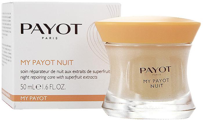 Средство для лица Payot, ночное, восстанавливающее, с активными растительными экстрактами, 50 мл8843Ночное крем для уставшей кожи любого типа питает и повышает защитные способности кожи, восстанавливает.Наносите крем вечером на кожу лица, шеи и декольте.