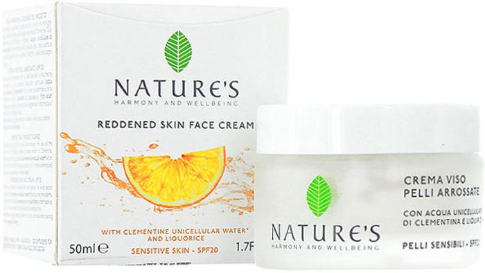 Natures Защитный, противокуперозный крем для лица SPF20, 50 мл60200203Защитный, противокуперозный крем для лица SPF20 Natures с бархатистой текстурой для защиты и увлажнения самой чувствительной кожи - эффективное средство борьбы с розацеей и куперозом. Предупреждает покраснение, успокаивает воспаленную кожу, дарит немедленное ощущение комфорта, упругости и эластичности. Кожа ровная, гладкая и сияющая. Основной активный ингредиент:Однокомпонентная вода органического Клементина - антиоксидантное, вяжущее, защитное действие. Разновидностей этого растения существует немало, но наиболее ценные сорта выращивают в заповедных природоохранных рощах, расположенных между побережьем и горами Калабрии. Воду из органического Клементина получают путем холодного отжима свежих плодов, сохраняя жизненно важные клетки растения, микроэлементы, витамины и эфирные масла. Специальные активные ингредиенты в продукте:Экстракт Солодки и Глицирретовая кислоты - успокаивают, снимают покраснения.Гиалуроновая кислота с тремя различными молекулярными весами (низкий, средний, высокий) - увлажняет кожу, поддерживает уровень увлажненности в течение дня, способствует естественной выработки коллагена, разглаживает морщины.Солнцезащитные фильтры от лучей UVB и UVA гарантируют защиту (SPF20), предупреждая появление пигментных пятен.Растительные Керамиды - тонус, упругость, эластичность.Масла Ши и Оливы - питание, смягчение.Витамин Е - антиоксидантные свойства. Характеристики:Объем: 50 мл. Производитель: Италия. Артикул:60200203. Товар сертифицирован.