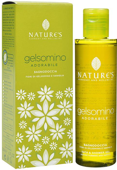 """Nature's Гель для ванны и душа """"Gelsomino"""", с жасмином и ванилью, 200 мл"""