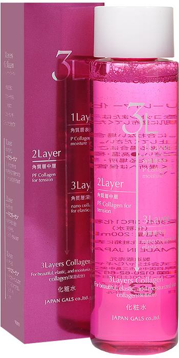 Japan Gals Лосьон для лица 3 Layers, 200 мл04LL3,7683Антивозрастной лосьон для лица Japan Gals 3 Layers с 3-я видами коллагена прекрасно увлажняет и дарит и упругость коже.Коллаген - это разновидность белков, участвующих в построении новых клеток. Недостаток коллагена является причиной появления морщин и обвисания кожи. Объем: 200 мл. Товар сертифицирован.