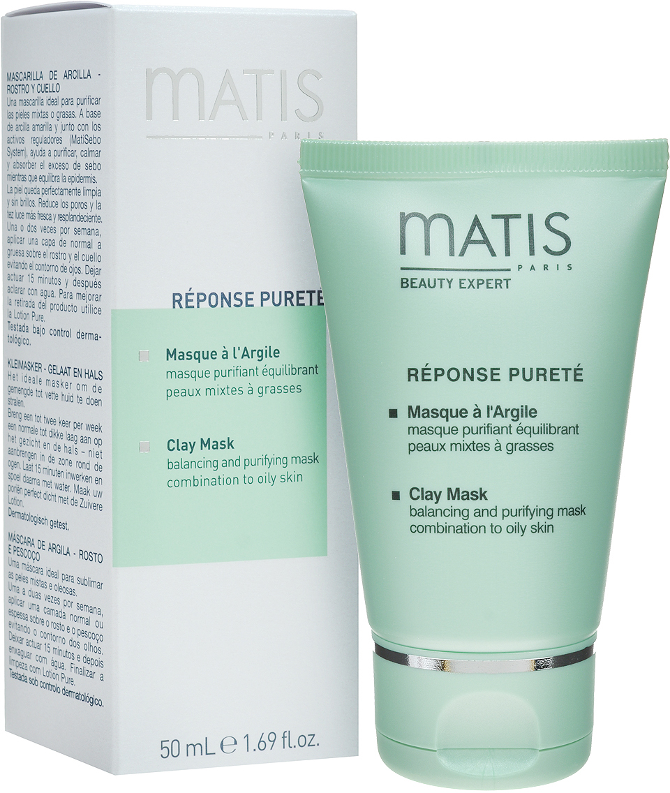 Matis Маска для лица Линия жирной кожи, очищающая, балансирующая, 50 мл matis очищающий гель для лица для жирной кожи линия 125 мл