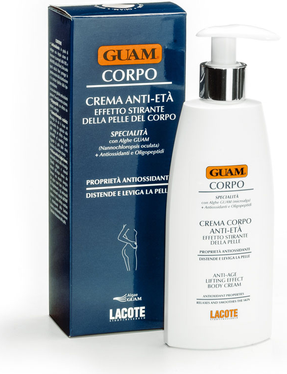 Guam Крем для тела Corpo антивозрастной, подтягивающий, 200 мл0605Заметно восстанавливает тонус и упругость кожи.Обогащен водорослями, микроэлементами и антиоксидантами которые предотвращают преждевременное старение кожи.Восстанавливает оптимальный уровень увлажненности кожи и оставляет ее мягкой, эластичной и подтянутой.Товар сертифицирован.