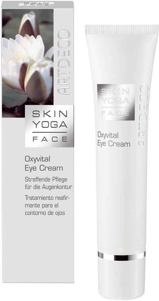 Artdeco Крем вокруг глаз Skin Yoga, с оксивиталом, 15 мл6418Крем вокруг глаз Artdeco Skin Yoga - это легкий, быстро впитывающийся крем дляглаз с экстрактами чайного гриба и гриба шиитаке, который успокаивает иувлажняетнапряженную кожу вокруг глаз. Крем устраняет следы усталости и придает кожесияющий вид. Современная текстура крема-геля с активным компонентом Oxyvitalразглаживает и повышает упругость кожи. Крем-гель не создает на коже жирнойпленки и препятствует потере эластичности. Товар сертифицирован.