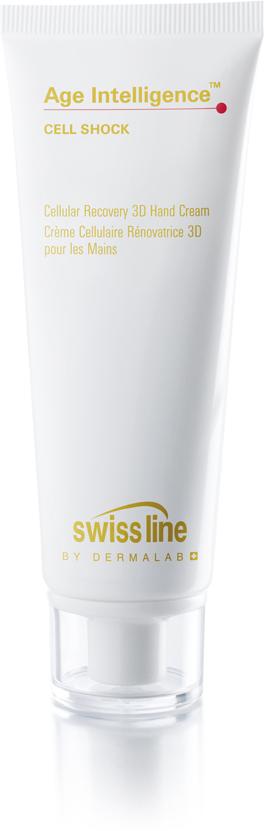 Swiss Line Cell Shock Восстанавливающий 3D крем для рук, 75 мл11601D — крем ухаживает за ногтями, кутикулой и кожей рук.2D — крем работает на трех уровнях: возвращает способность к обновлению и восстановлению на клеточном уровне, защищает руки на уровне эпидермиса, укрепляет на уровне дермы.3D — крем оказывает тройное действие на кожу: укрепляет и разглаживает кожу, защищает ее от агрессии внешней среды, а также осветляет пигментацию.