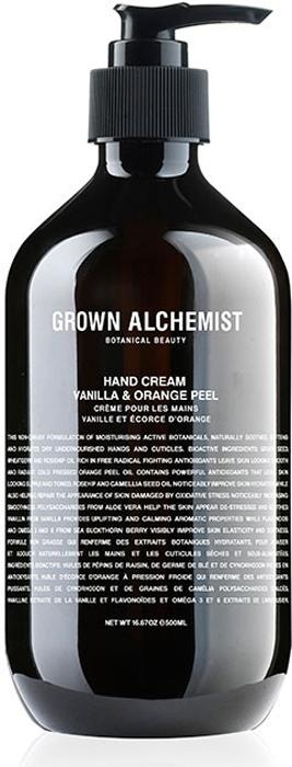 Grown Alchemist Крем для рук Ваниль и апельсин, 500 мл grown alchemist жидкое мыло для рук сандал и иланг иланг 500 мл