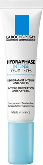 La Roche-Posay Увлажняющий крем-гель для контура глаз Hydraphase Интенс против «мешков» под глазами 15 мл крем la roche posay hydraphase intense riche объем 50 мл