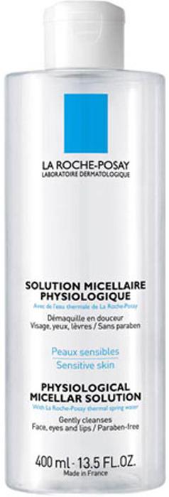 La Roche-Posay Раствор мицеллярный физиологический для снятия макияжа с лица и глаз для всех типов кожи Physiological Cleansers 400 мM0000203Новая формула мицеллярной воды, разработанная Дерматологической лабораторией La Roche-Posay, позволила соединить силу мицелл иглицерина для достижения ультра эффективности и оптимальной переносимости. Новая мицеллярная вода равномерно распределяется поповерхности кожи, не вызывает трения и повреждения защитного барьера кожи. Благодаря новой формуле средства происходит прочный захват иудержание всех частиц макияжа и микро-загрязнений. Содержит термальную воду La Roche-Posay.Мицеллярная вода предназначена для чувствительной кожи лица и глаз. Формула обеспечивает моментальное очищение и удаление макияжа,одновременно успокаивая кожу.Рекомендации по использованию: Нанести на ватный диск и очистить лицо и шею. Не требует смывания водой.Только для наружного применения. Не содержит парабенов, мыла, красителей и спирта.