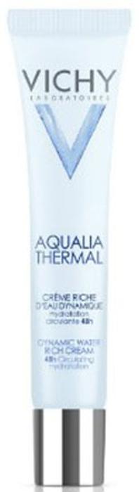 Vichy Насыщенный крем Aqualia Thermal Динамичное увлажнение, 40 мл vichy пробуждающий бальзам для контура глаз aqualia thermal 15 мл пробуждающий бальзам для контура глаз aqualia thermal 15 мл 15 мл