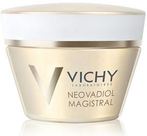 Vichy Питательный бальзам, повышающий плотность кожи Neovadiol GF Мажистраль, 50 мл086-30259Неовадиол Мажистраль питательный бальзам, повышающий плотность кожи мгновенно смягчает, придавая ощущение комфорта. Легко впитывается, не оставляя жирных следов. День за днем плотность кожи восстанавливается. Содержит комплекс восстанавливающих масел, который восполняет дефицит липидов и придает насыщенную текстуру бальзама: - Масло Ши, обогащенное Омега 6 и 9, активизирует выработку липидов в эпидермисе. - Масло семян Картамуса, обогащенное Омега 3,6 и 9 стимулирует синтез липидов. - Масло рисовый отрубей, обогащенное Омега 6 и 9, питает и придает коже мягкостьЭффективность:Восстанавливает все слои кожи через 10 днейДелает овал лица четким. Подтверждено 86% женщинДелает кожу упругой и эластичной. Подтверждено 92% женщин