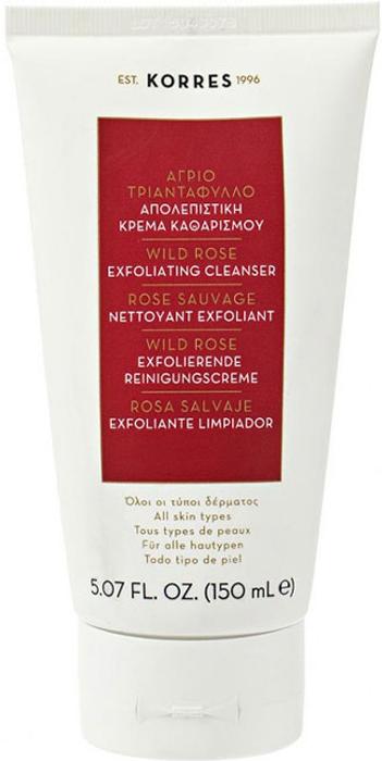 Korres Нежный скраб с дикой розой Ежедневное Очищение для всех типов кожи лица 150 мл520306904545590, 5% натуральных ингредиентов. Мягкое отшелушивающее средство для ежедневного использования. Эффективно удаляет излишки себума, загрязнения, макияж, а также омертвевшие клетки. Делает кожу гладкой и сияющей. Не содержит мыла, не сушит кожу. Почему именно дикая роза стала основой линий Дикая роза, богатая витамином С, выравнивает тон кожи, предупреждает появление пигментации и появление первых признаков старения; Масло дикой розы обеспечивает длительное увлажнение, обладает противоспалительным действием и смягчает кожу; Масло дикой розы образует защитную пленку на коже, которая способствует регенерации клеток и улучшает текстуру кожи. Масло дикой розы, Частицы зерен риса и вишнёвых косточек, Черника, экстракты апельсина и лимона, Полисахариды в сочетании с экстрактом алоэНанести на влажную кожу, избегая области вокруг глаз. Массировать нежными круговыми движениями, смыть водой. Использовать ежедневно.