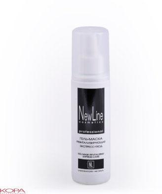 New Line Гель-маска ревитализирующая. Экспресс-уход, 150 мл22805Предназначена для глубокого увлажнения, восстановления, детоксикации кожи, укрепления кон-тура лица.Мультифункциональный комплекс ингредиентов улучшает структуру кожи, делает менее заметными признаки старения, восстанавливает сияющий цвет лица.