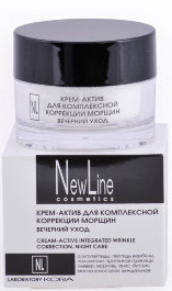 New Line Крем-актив для комплексной коррекции морщин. Вечерний уход,50 мл new line professional пилинг клюквенный для зрелой кожи ана 40 5