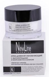 New Line Крем дневной обновляющий с фитопептидами и морским коллагеном, 50 мл new line professional пилинг клюквенный для зрелой кожи ана 40 5